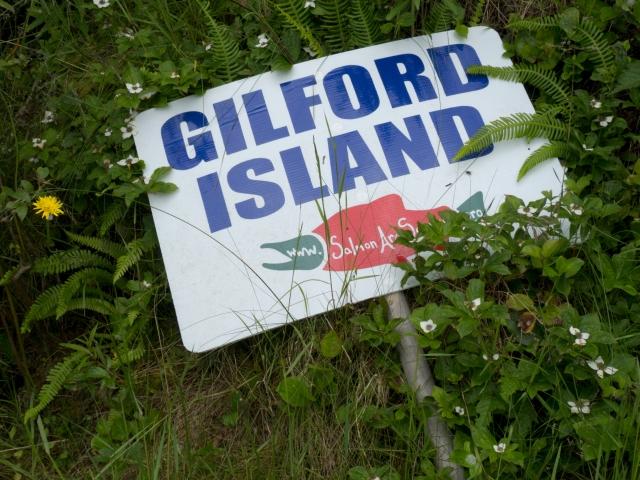 Gilford Island sign