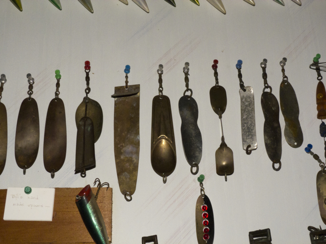 salmon trolling spoons in Billy's Museum