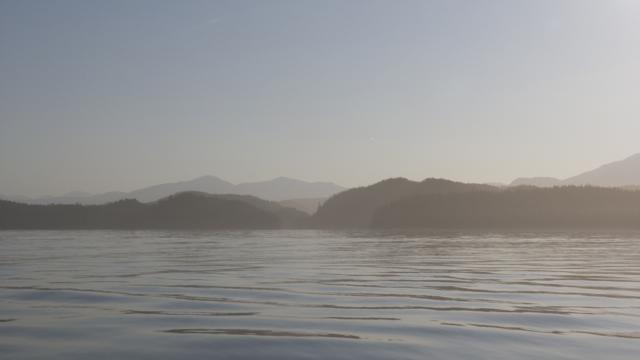 Rippled seas Fitzhugh Sound