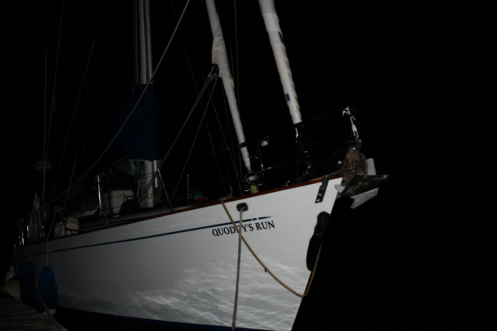 At dock in the night
