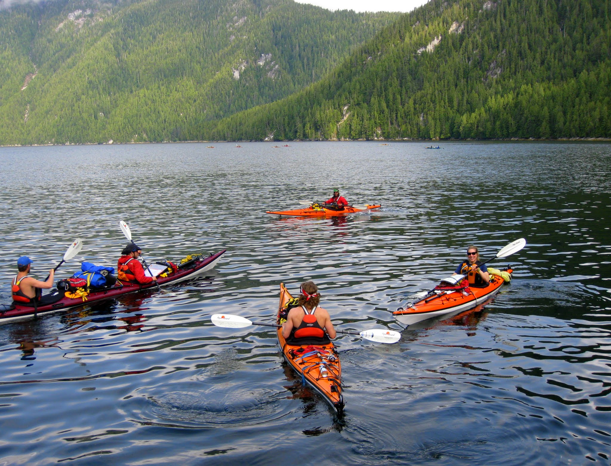 Junneau kayakers