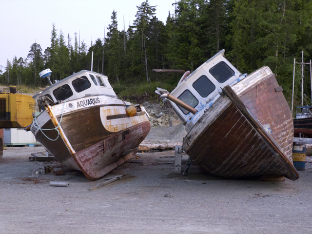 Old boats in Shearwater