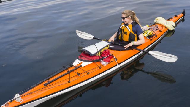 Bishop Bay kayaker