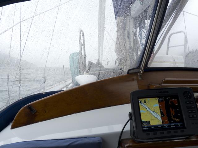 Rain, plotter, radar