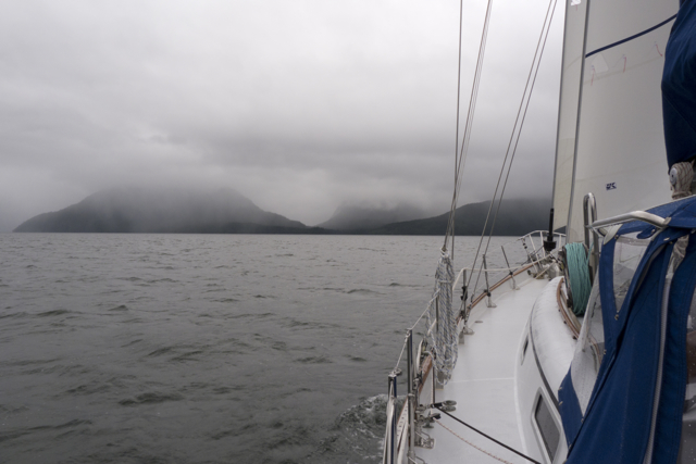 low clouds sea